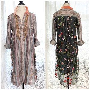 Aratta silent journey long button up shirt dress